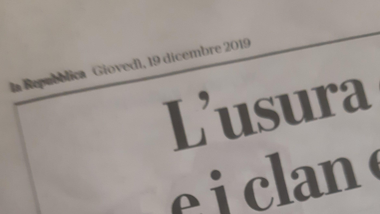 Gocce di stampa: Roma, focus usura ed estorsioni